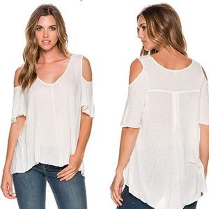 New Free People cold should oversized top size LG